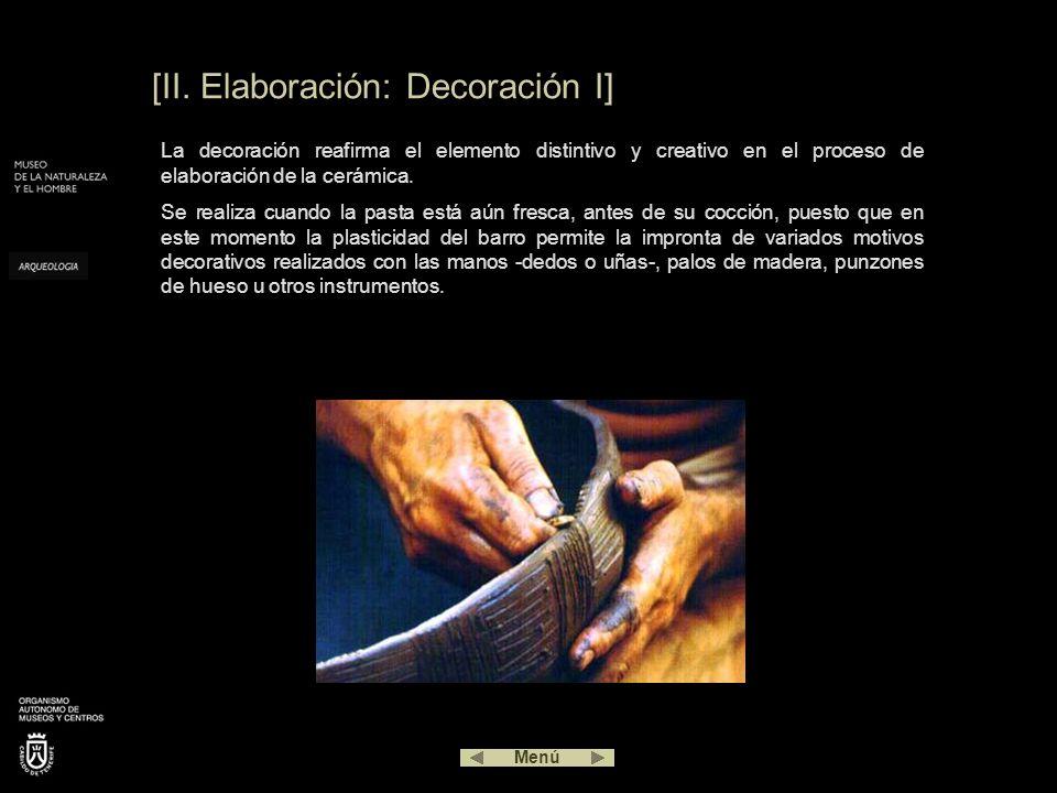 [II. Elaboración: Decoración I]